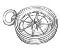 Kompass bleistiftzeichnung  Anke Eissmann